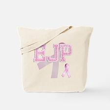 EJP initials, Pink Ribbon, Tote Bag