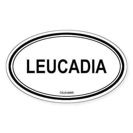 Leucadia oval Oval Sticker