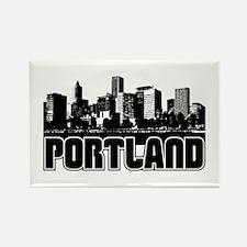 Portland Skyline Rectangle Magnet