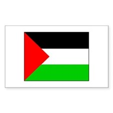 Palestinian Flag Rectangle Decal