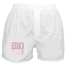 EID initials, Pink Ribbon, Boxer Shorts