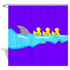 Duck/Shark Shower Curtain (Purple)