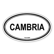Cambria oval Oval Decal