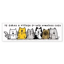 Takes A Village Help Cats Car Sticker