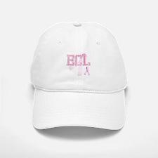 ECL initials, Pink Ribbon, Baseball Baseball Cap