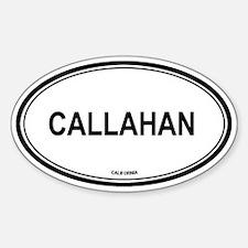Callahan oval Oval Decal