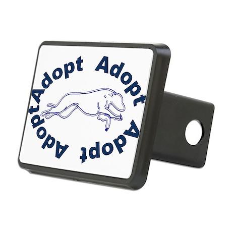 adopt blue v2.0.gif Rectangular Hitch Cover