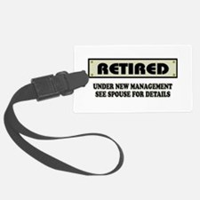 Funny Retirement Gift, Retired, Luggage Tag