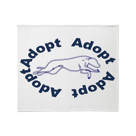 adopt blue v2.0.gif Throw Blanket
