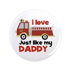 "I love Firetrucks (just like Daddy) 3.5"" Butt"