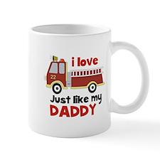 I love Firetrucks (just like Daddy) Mug