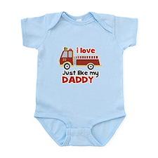I love Firetrucks (just like Daddy) Infant Bodysui