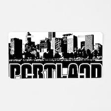 Portland Skyline Aluminum License Plate