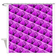 Violet Floral Bunch Bath Shower Curtain