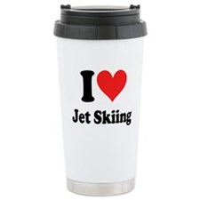 I Heart Jet Skiing Travel Mug