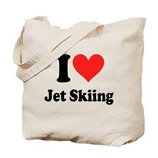 I Heart Jet Skiing Tote Bag