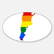 Rainbow Pride Flag Argentina Map Decal