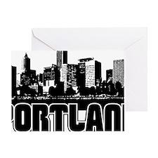 Portland Skyline Greeting Card