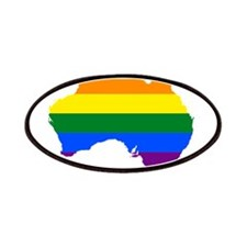 Rainbow Pride Flag Australia Map Patches
