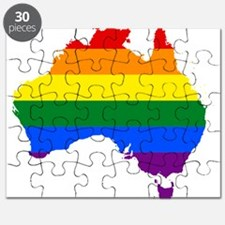 Rainbow Pride Flag Australia Map Puzzle
