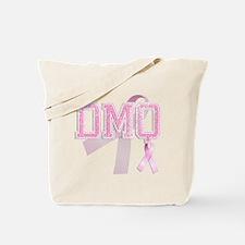 DMQ initials, Pink Ribbon, Tote Bag