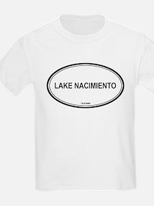 Lake Nacimiento oval Kids T-Shirt