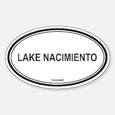 Lake Nacimiento oval Oval Decal