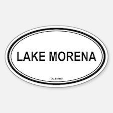 Lake Morena oval Oval Decal