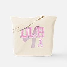 DLB initials, Pink Ribbon, Tote Bag