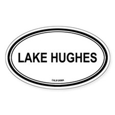 Lake Hughes oval Oval Decal