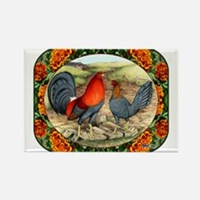 Beautiful Game Fowl Rectangle Magnet
