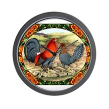 Beautiful Game Fowl Wall Clock
