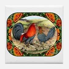 Beautiful Game Fowl Tile Coaster