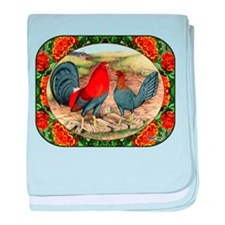 Beautiful Game Fowl baby blanket