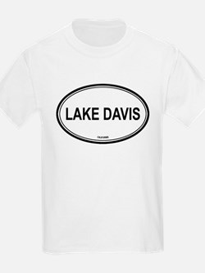 Lake Davis oval Kids T-Shirt