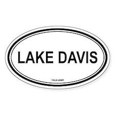 Lake Davis oval Oval Decal