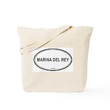Marina Del Rey oval Tote Bag