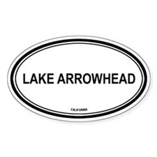 Lake Arrowhead oval Oval Decal