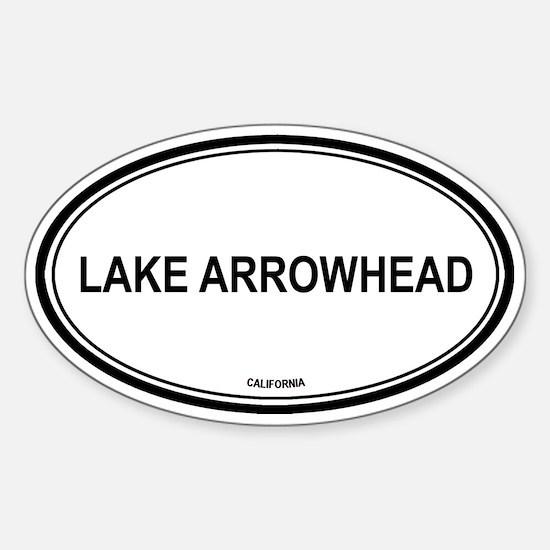 Lake Arrowhead oval Oval Decal