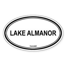 Lake Almanor oval Oval Decal