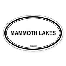 Mammoth Lakes oval Oval Decal