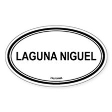 Laguna Niguel oval Oval Decal
