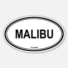 Malibu oval Oval Decal