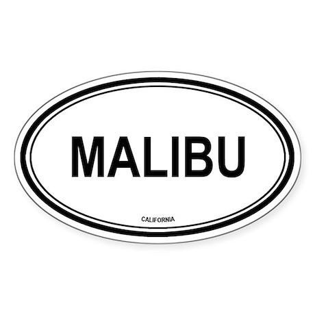 Malibu oval Oval Sticker