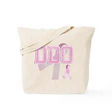 DDO initials, Pink Ribbon, Tote Bag