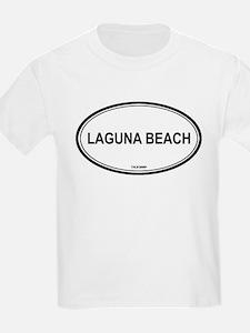 Laguna Beach oval Kids T-Shirt