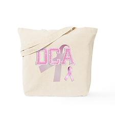DCA initials, Pink Ribbon, Tote Bag