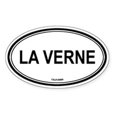 La Verne oval Oval Decal