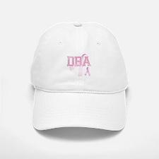 DBA initials, Pink Ribbon, Baseball Baseball Cap