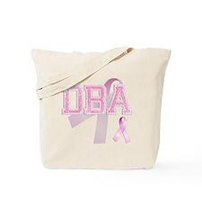 DBA initials, Pink Ribbon, Tote Bag